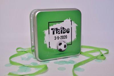 Blikken Doos Communie Thibe Voetbal Thema 2020