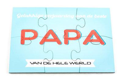 Puzzel rechthoek verjaardag papa