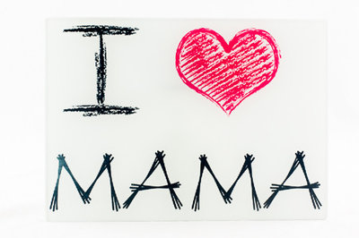 Snijplank I love mama