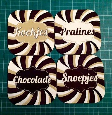 Onderzetters chocolade