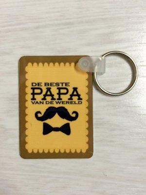 Dubbelzijdige sleutelhanger beste papa van de wereld