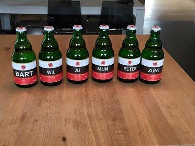 Bier wil jij mijn peter zijn + naam (of echo)