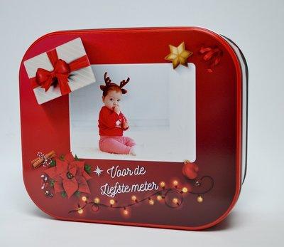 Koekjesdoos kerst rood 2017