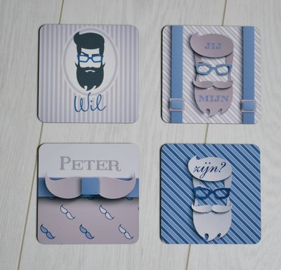Onderzetters peter zijn hipster