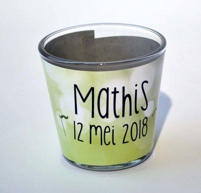 Theelichthouder Communie Mathis 2018