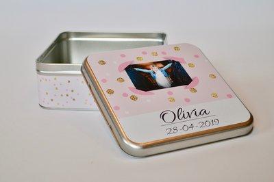 Blikken Doos Communie Olivia 2019