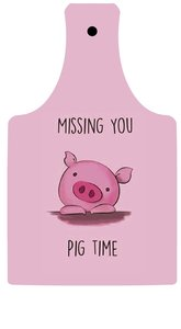 Snijplank pig time