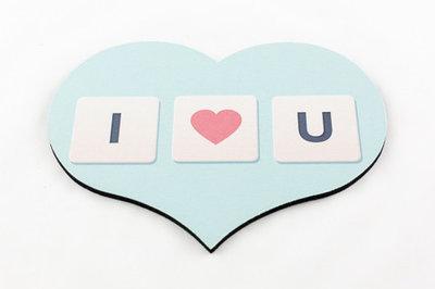 Muismat hart I love you