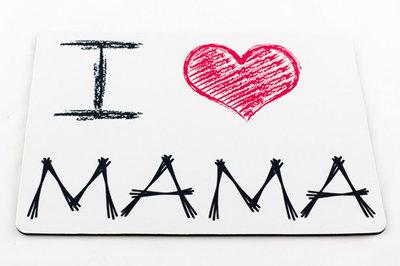 Muismat rechthoek I love mama
