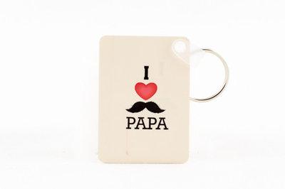 Dubbelzijdige sleutelhanger I love papa