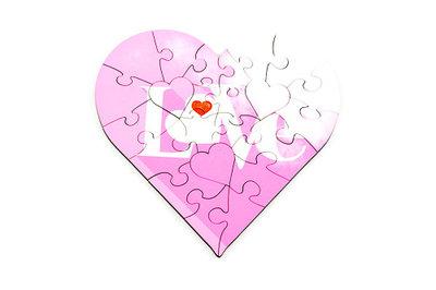 Puzzel hart love