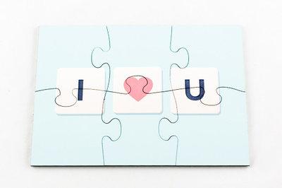 Puzzel rechthoek I love you