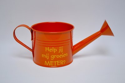 Oranje gieter meter