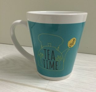 Tas All you need is tea blauw